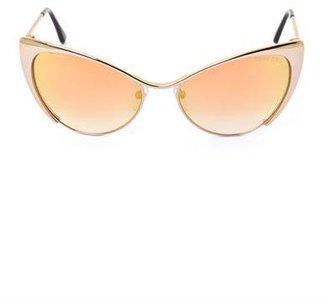 Tom Ford Sunglasses Cat-eye flash gold sunglasses