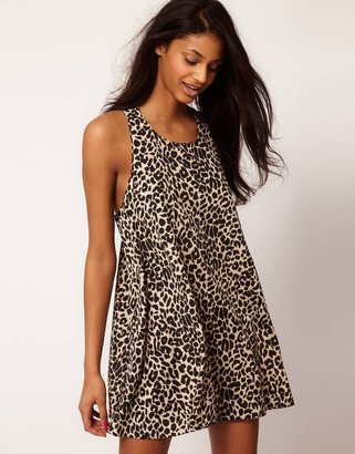 Asos Animal Print Swing Dress