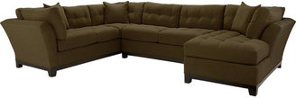 Rooms To Go Cindy Crawford Metropolis Vanilla 3Pc Sectional