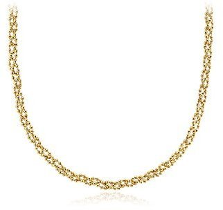 Garland Bead Necklace in 18k Yellow Gold