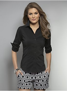 New York & Co. Classic Stretch Button Front Shirt
