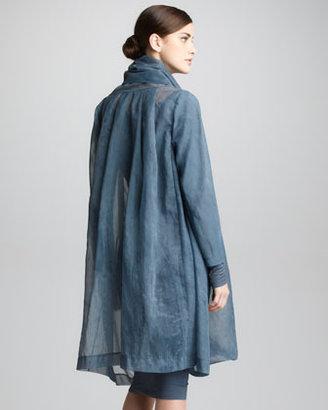 Donna Karan Organza Clutch Coat