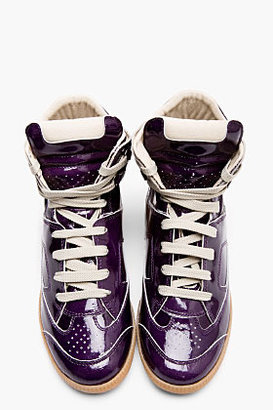 Maison Martin Margiela Purple Patent Leather Replica High-Top sneakers