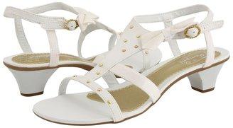 Pampili 39.161 (Toddler/Youth) (White/Gold) - Footwear