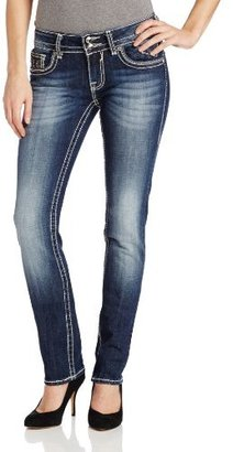 Vigoss Juniors Dark Wash Chelsea Jewel Straight Jean
