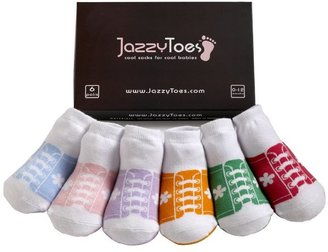 Jazzy Toes Mary Janes Sock Set - Girls-0-12M