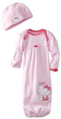 Hello Kitty Baby-girls Newborn Gown And Cap