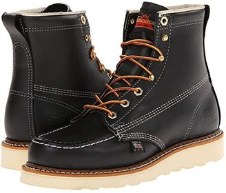 Thorogood 6 Black Moc Toe (Black Oil) Men's Work Boots