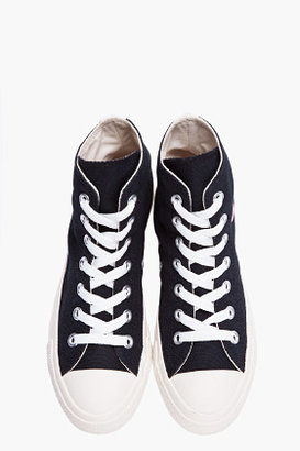 Comme des Garcons High-top Black Canvas Converse Sneakers