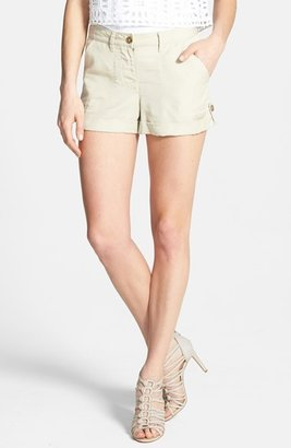 Vince Camuto Two by Textured Roll Cuff Tencel® Shorts