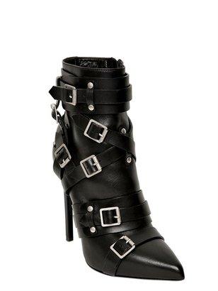 Saint Laurent 120mm Paris Belted Pointed Boots