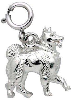 Dazzlers Sterling Samoyed Dog Charm