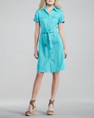 Neiman Marcus Linen Cargo Dress