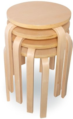 Linon Brentwood 4-pc. Stool Set