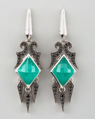 Stephen Webster Crystal & Pave Sapphire Drop Earrings