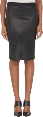Helmut Lang Stretch-Leather Pencil Skirt