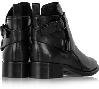 McQ by Alexander McQueen Buckled leather ankle boots
