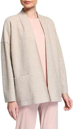 Eileen Fisher Boiled Wool High Collar Jacket