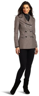 Kenneth Cole Women's Double Breasted Pea Coat