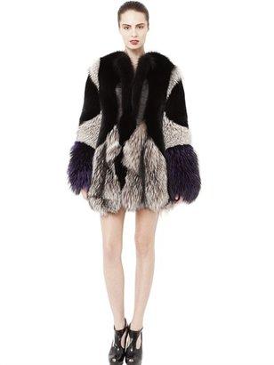 Crocodile Leather And Fox Fur Coat