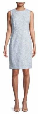 Calvin Klein Sleeveless Compression Jacquard Sheath Dress