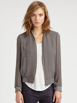 Helmut Lang HELMUT Breeze Crinkled Bomber Jacket