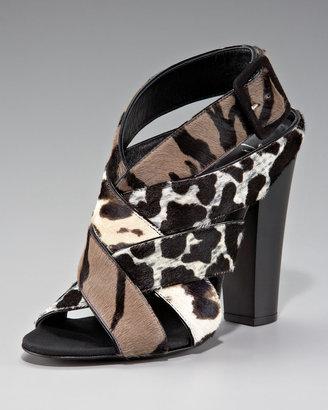 Giuseppe Zanotti Mixed-Print Woven Sandal