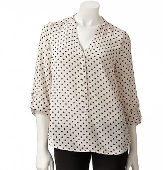 Lauren Conrad polka-dot blouse - women's