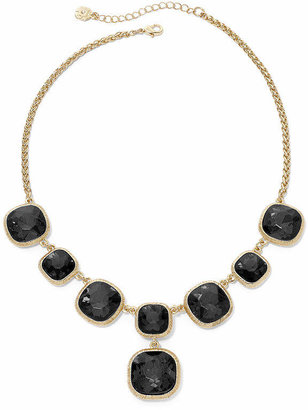 JCPenney MONET JEWELRY Monet Gold-Tone Jet Black Y Necklace