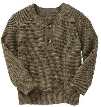Gap Waffle-knit henley sweater