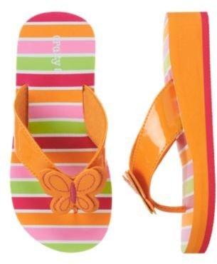 Crazy 8 Butterfly Patent Flip Flop