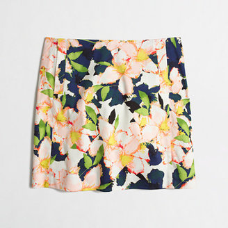 J.Crew Factory Factory printed cotton sateen mini skirt