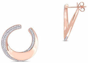 HBC CONCERTO 14K Rose Gold Hoop Earrings with 0.5 TCW Diamonds
