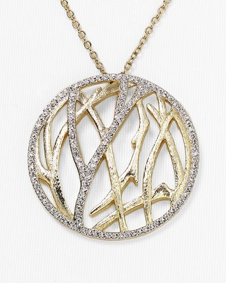 "Nadri Aurora Pave Circle Pendant Necklace, 20"""