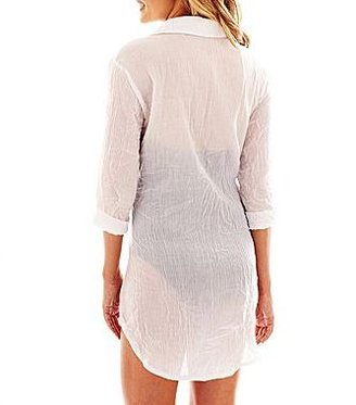 JCPenney Wearabouts Shirtdress Cover-Up