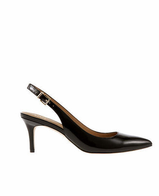 Ann Taylor Perfect Patent Leather Slingback Kitten Heels