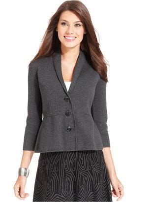 Alfani Jacket, Three-Quarter-Sleeve Shawl-Collar