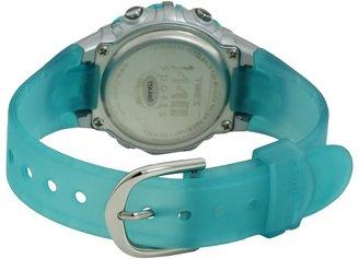 Timex 1440 Sports Digital Silver Case Translucent Blue Strap Watch