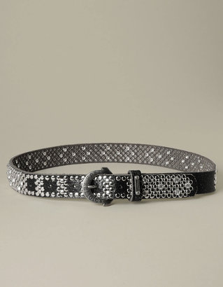 True Religion Hand Picked All Over Studs Rhinestone Belt