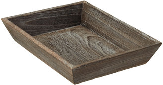 Container Store Large Feathergrain Wood Tapered Tray