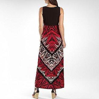 Studio 1 Printed High-Low Hem Maxi Dress