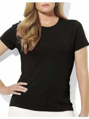 Lauren Ralph Lauren Plus Ribbed Crew Neck T-Shirt