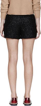 Kitsune Maison Black Textured Cristi Short