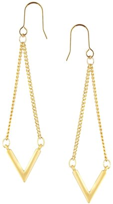 Asos Limited Edition Fine Triangle Swing Earrings