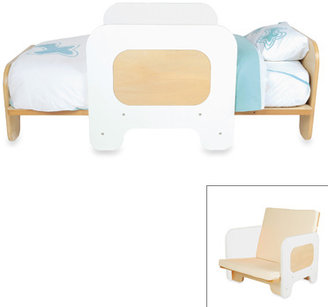 P'kolino White 2-in-1 Toddler Bed and Chair
