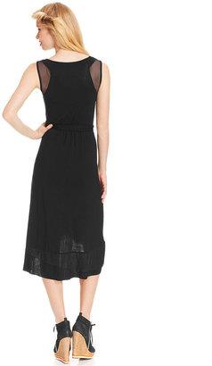 eric + lani Juniors' Mesh-Inset High-Low Dress