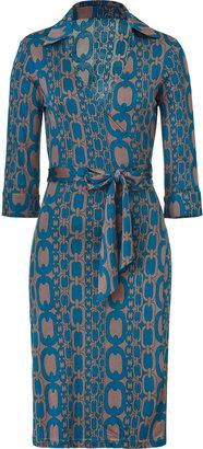 Steffen Schraut Dust/Cosmic Printed Wraparound Silk Dress