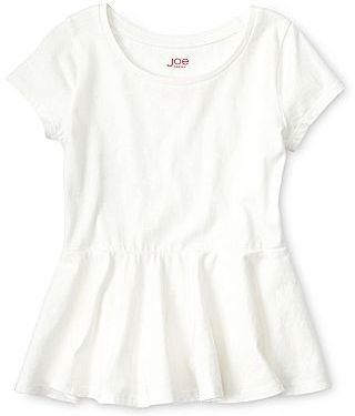 Joe Fresh Joe FreshTM Solid Peplum Tee - Girls 4-14