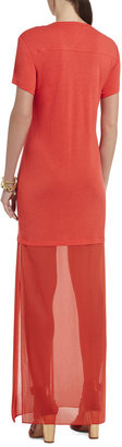 BCBGMAXAZRIA Cassia Short-Sleeve Maxi Dress