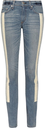 Rag and Bone Rag & bone JEAN The Racer paneled mid-rise skinny jeans